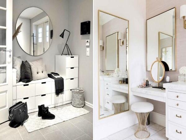 thiết kế gương cho nhà nhỏ